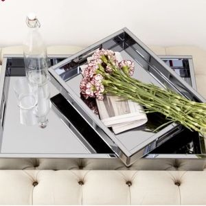 West Elm Glamour Art Deco Mirrored tray!